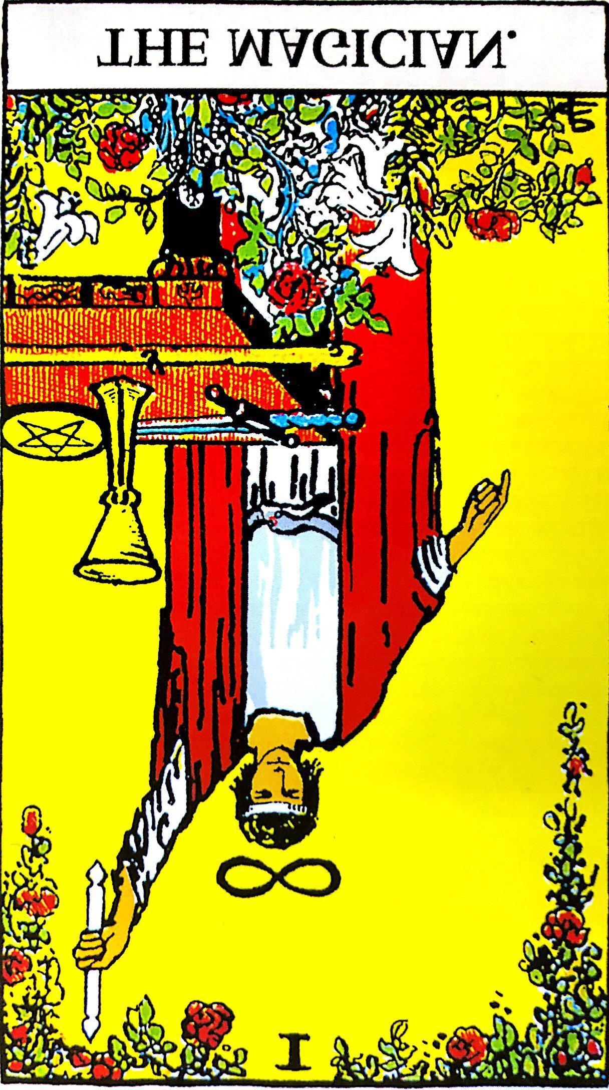 タロットの「魔術師」の意味【逆位置】