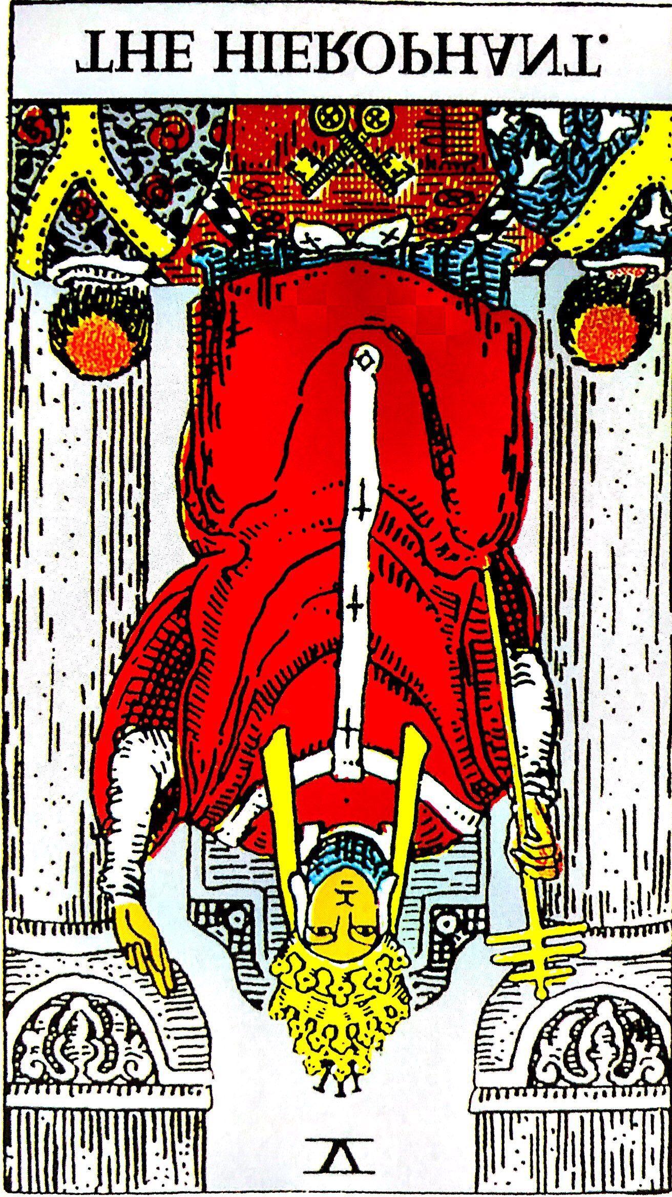 タロット占い「法王」の意味【逆位置】