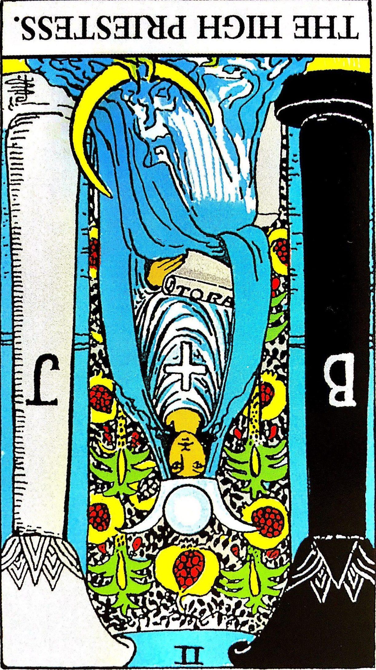 片思いを諦めるべきタロットカードその1.『女教皇』【逆位置】