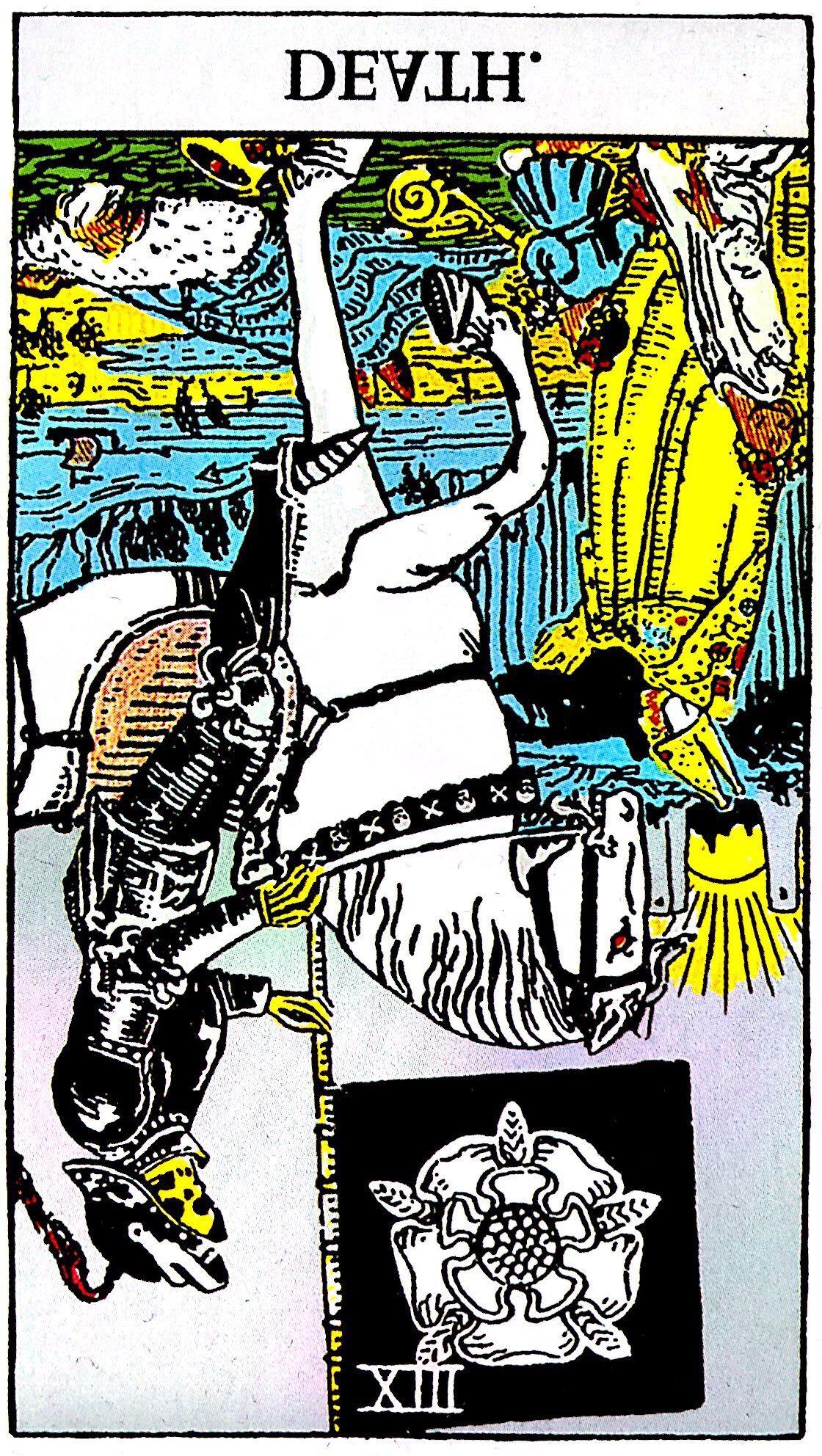タロット占い「死神」の意味【逆位置】