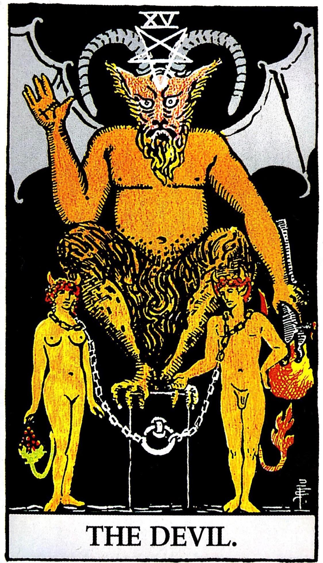 タロット占い「悪魔」の意味【正位置】