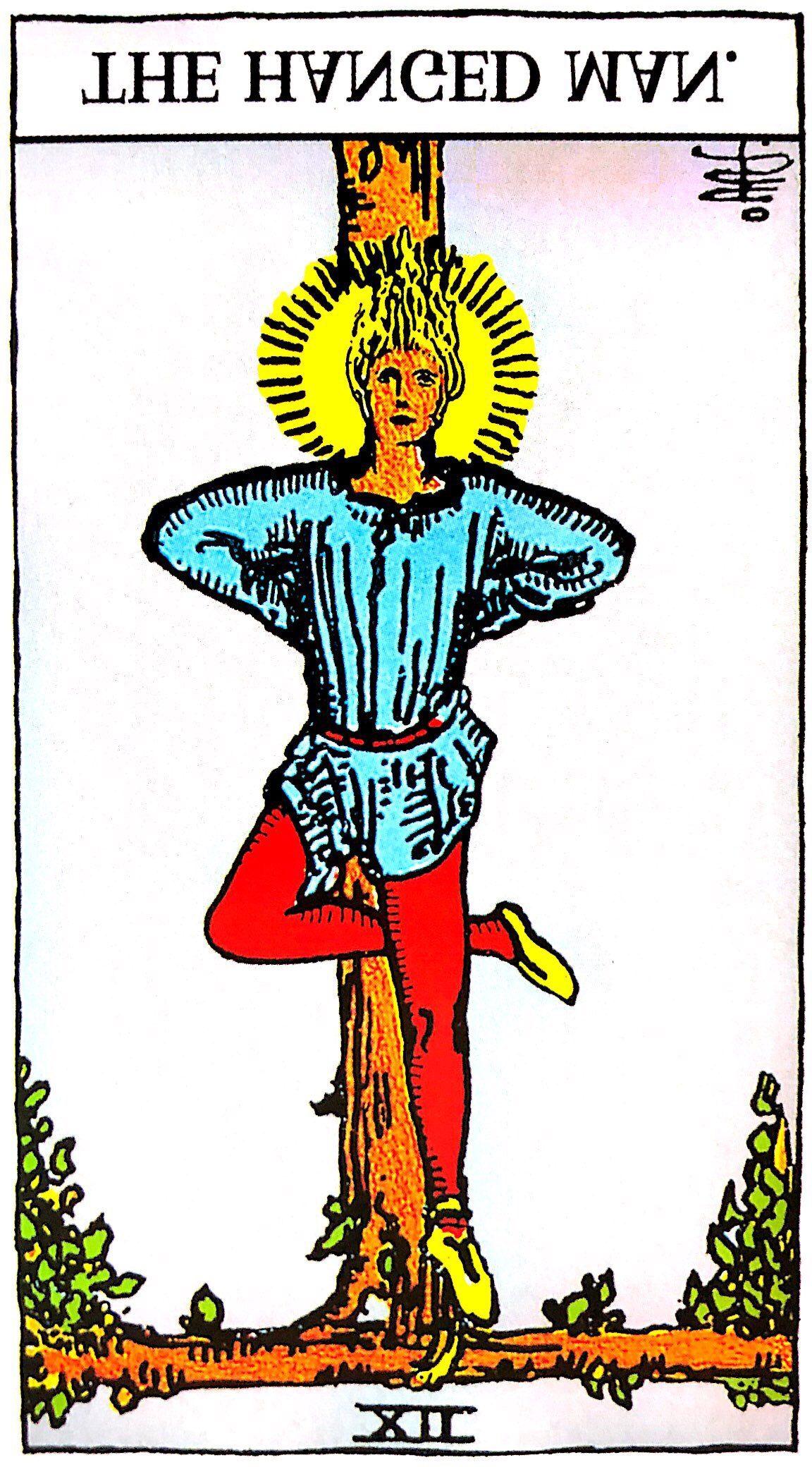 タロット占い「吊るされた男」の意味【逆位置】
