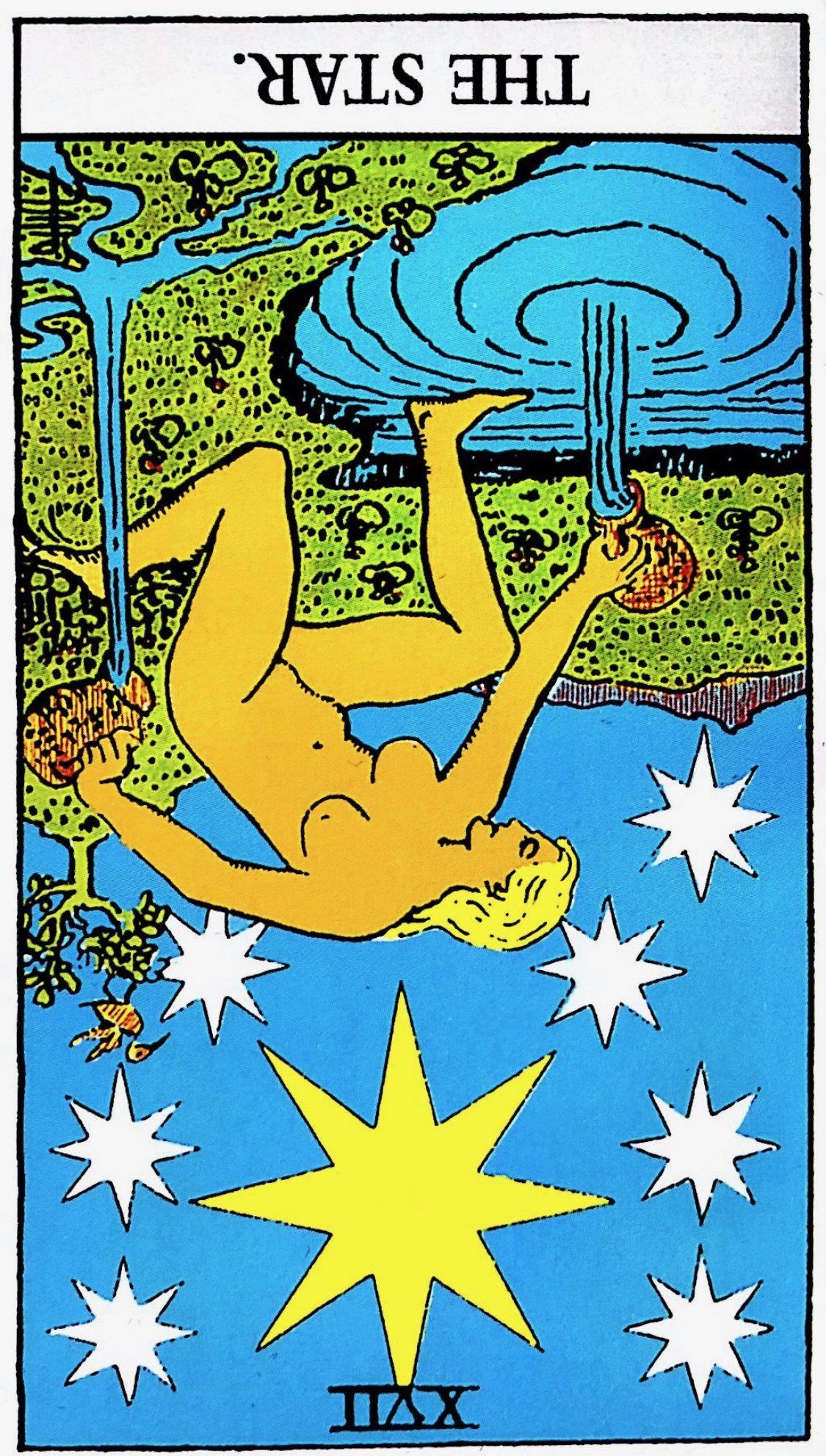 タロット占い「星」の意味【逆位置】