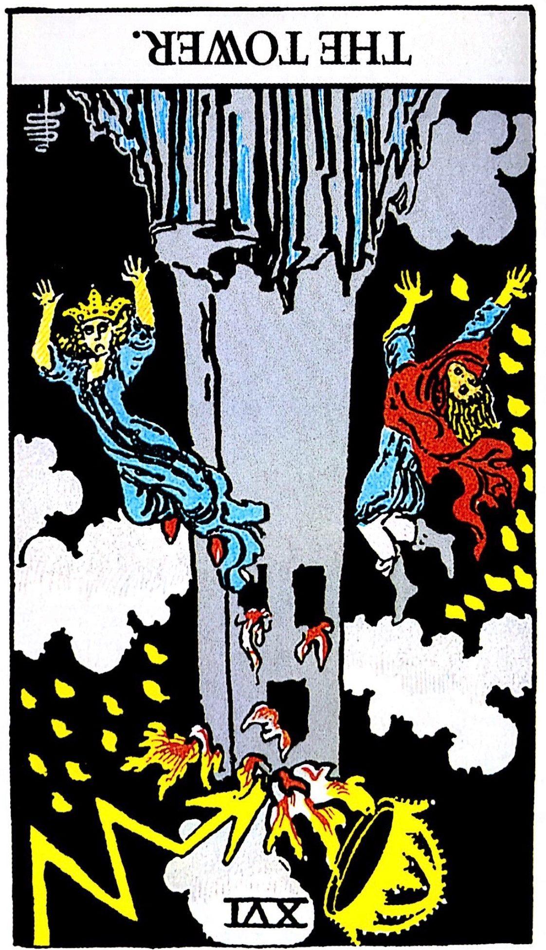 タロット占い「塔」の意味【逆位置】