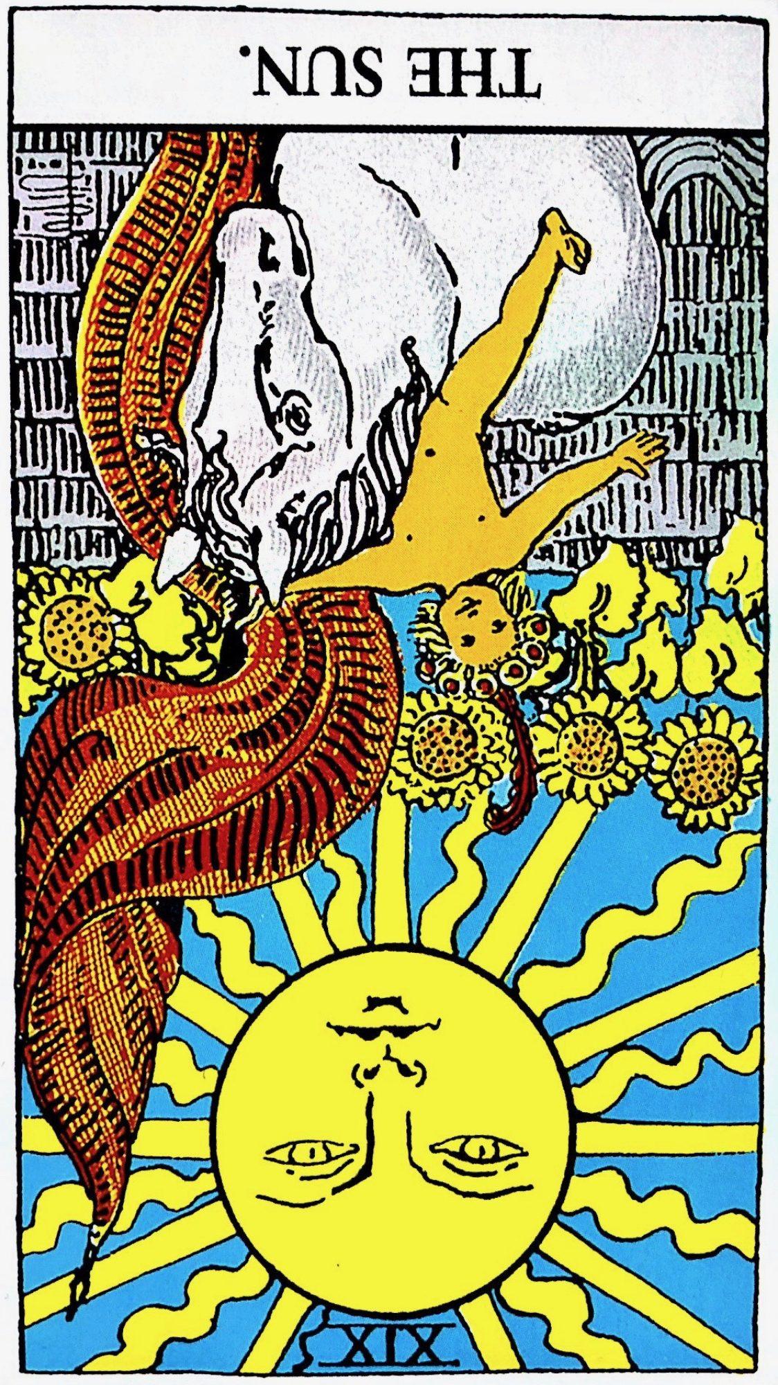 タロット占い「太陽」の意味【逆位置】