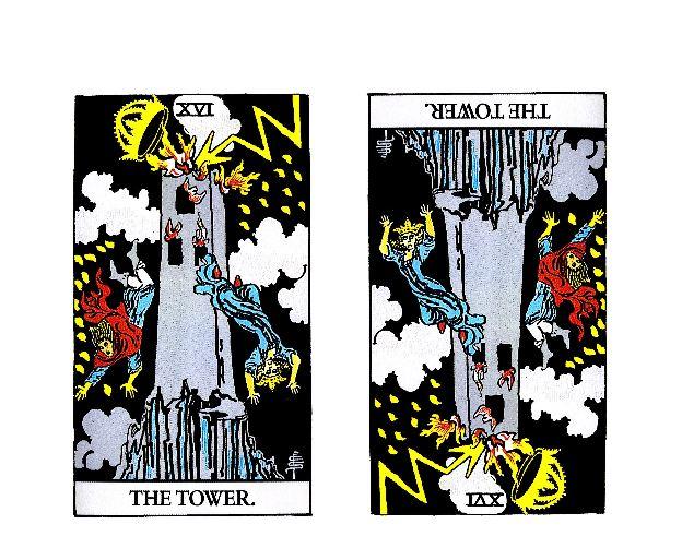 片思いを諦めるべきタロットカードその5『塔』【正位置】【逆位置】